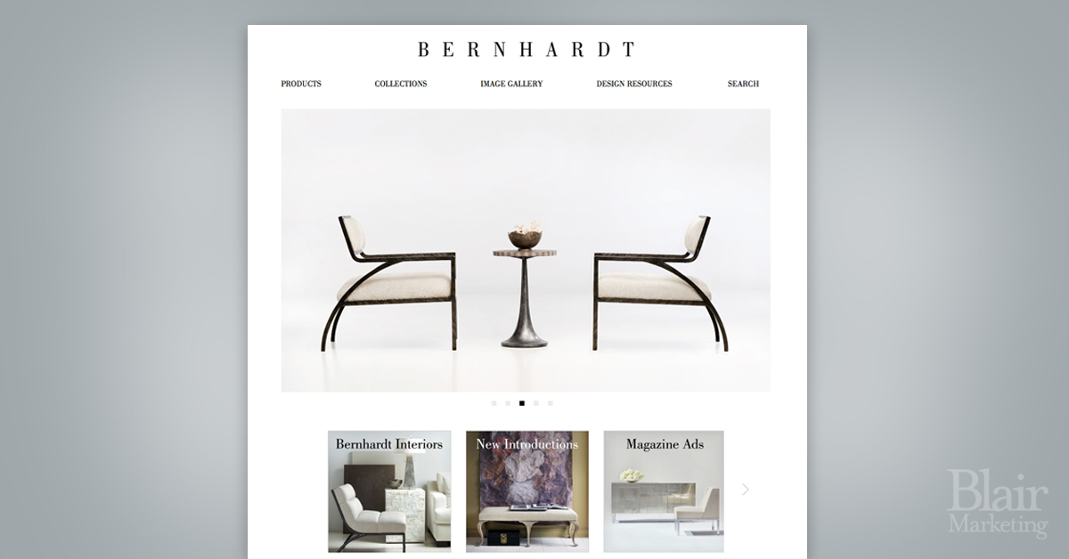 Bernhardt Furniture Website