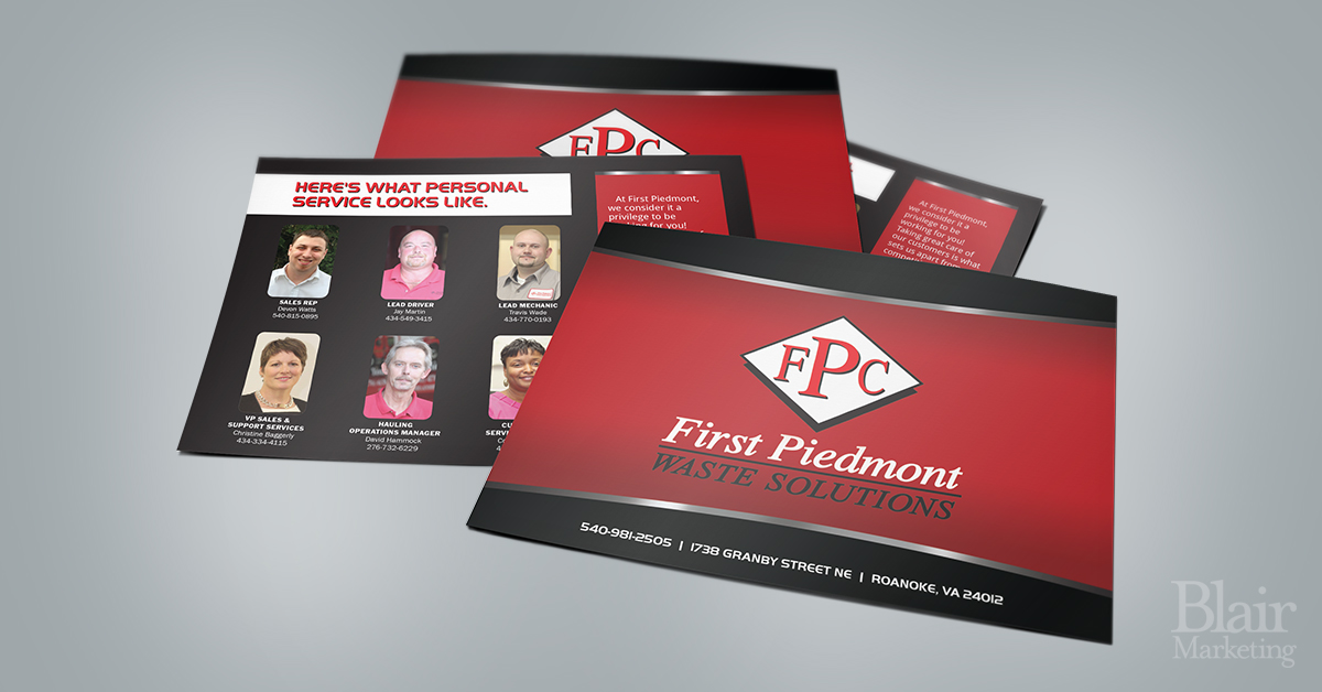 First Piedmont Water Solutions Postcards