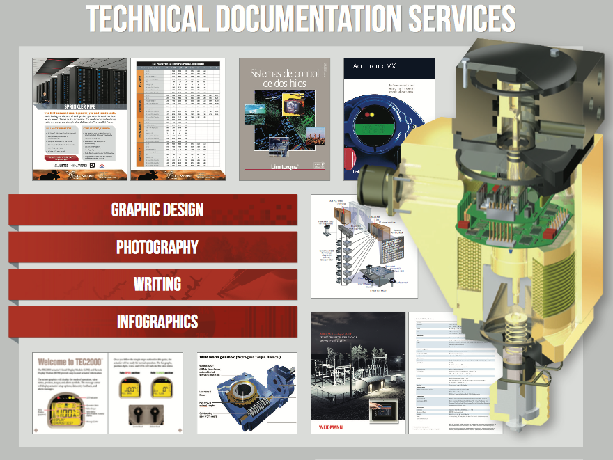 Technical documentation services graphic