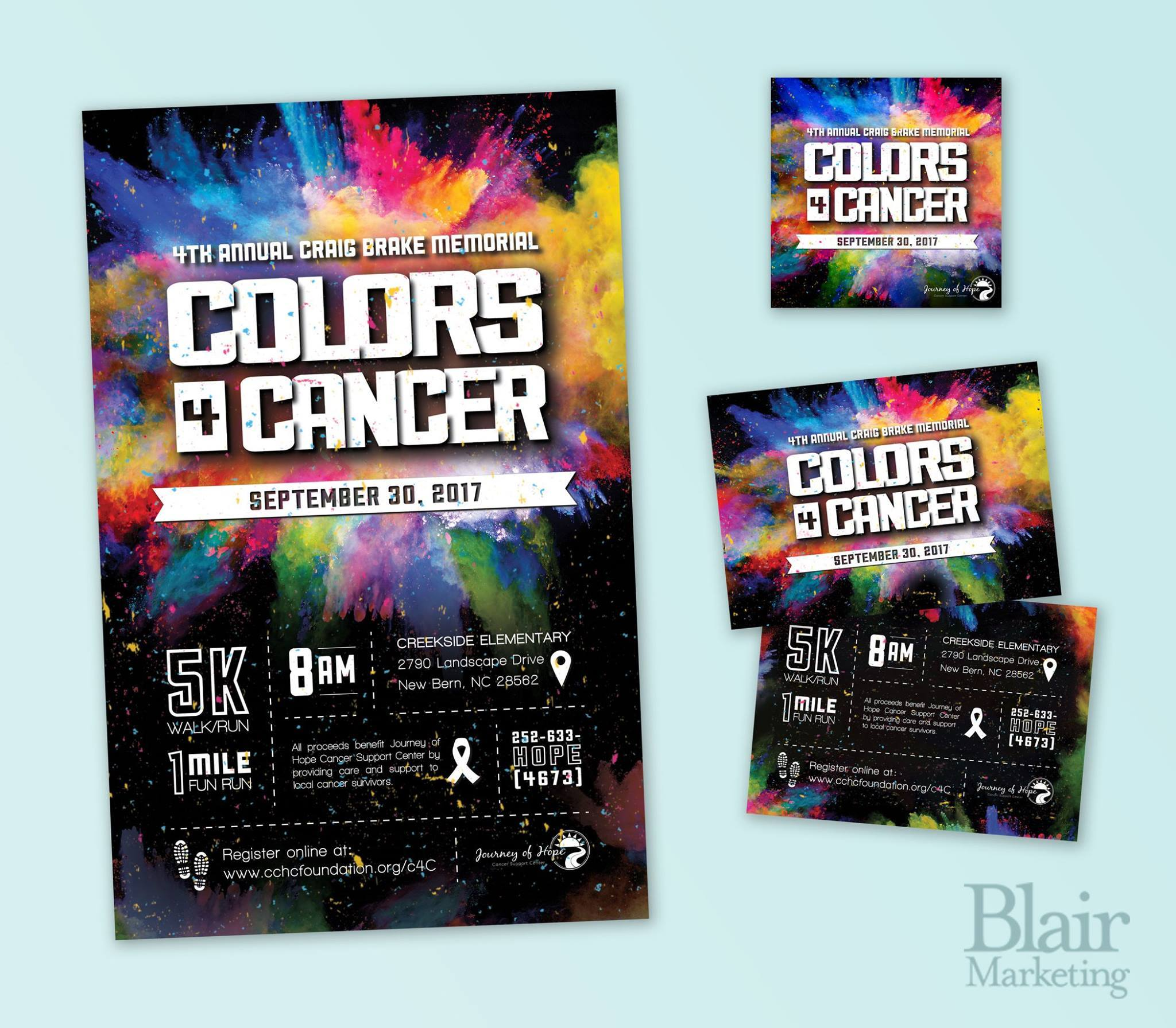 Colors for cancer print materials