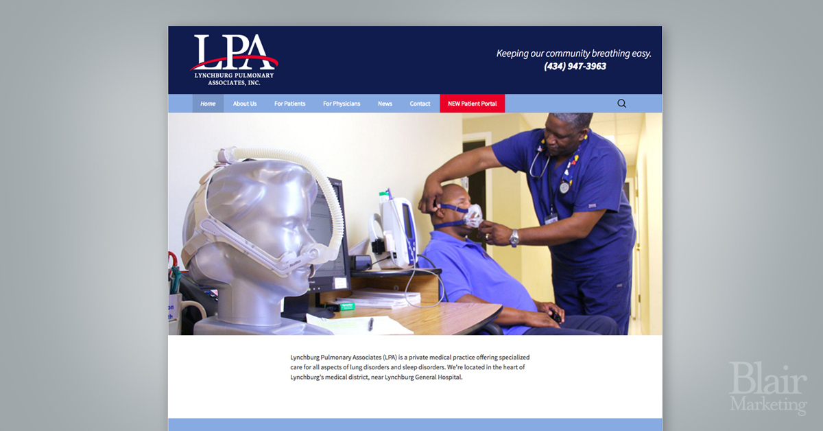 Lynchburg Pulmonary Associates website