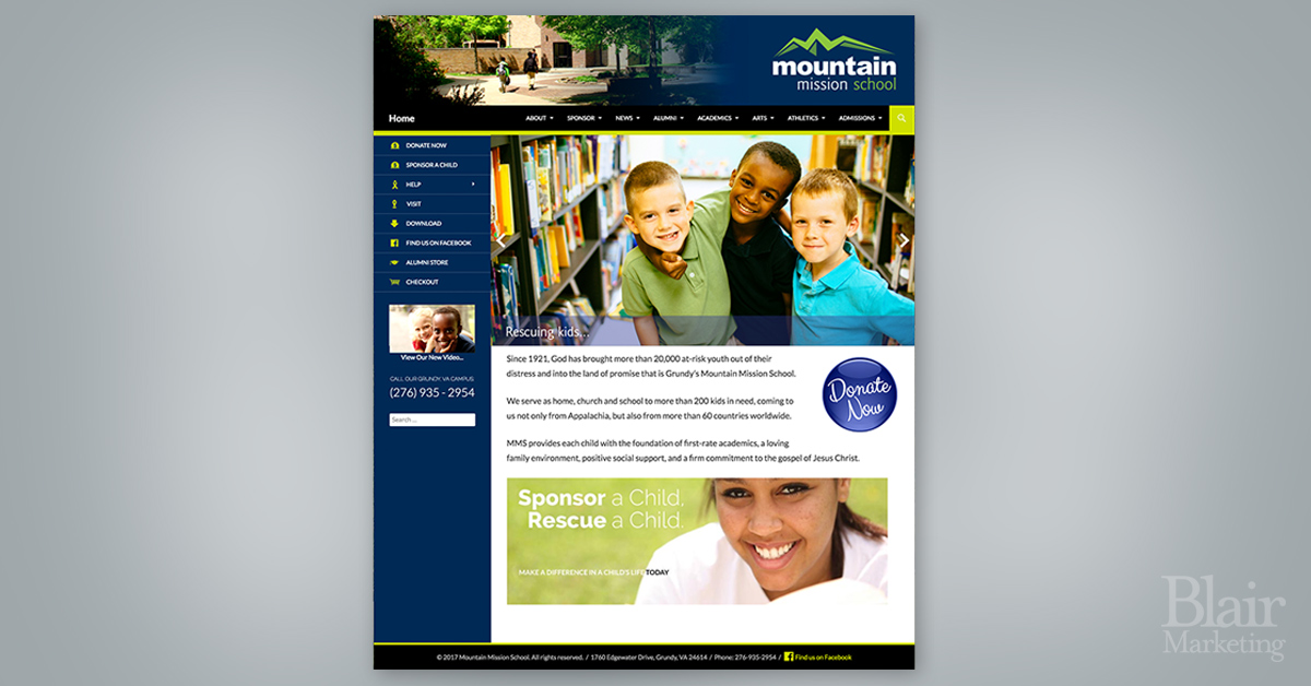 Mountain Mission School Website
