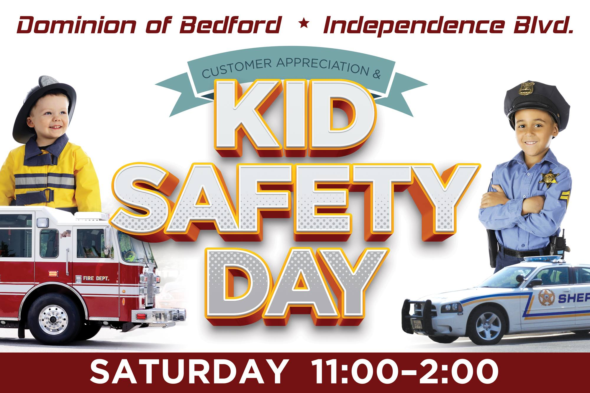 Dominion of Bedford Kid Safety Day graphic