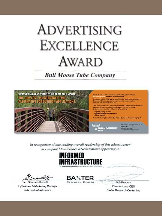 Advertising excellence award