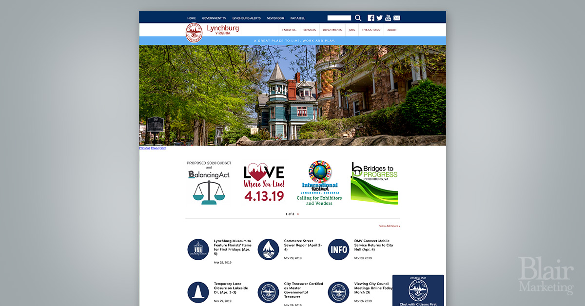Lynchburg Virginia website