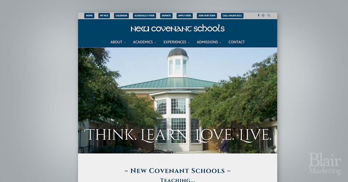 New Covenant Schools homepage